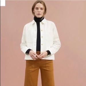 Everlane NWT Chore Coat Jacket White Size XL